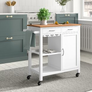 Lenwood Kitchen Trolley With Wood By Brambly Cottage