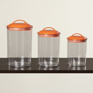 Acrylic 3 Piece Kitchen Canister Set
