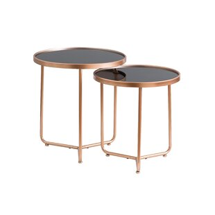Nichole 2 Piece Nest Of Tables (Set Of 2) By Mercury Row