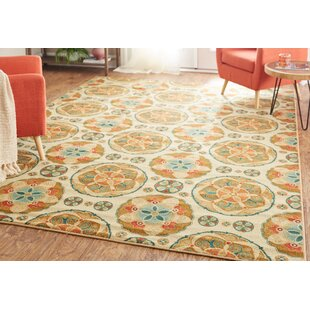 Lemay Spice Suzani Tan/Brown Area Rug by World Menagerie