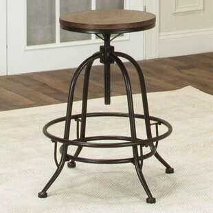 Gracie Oaks Abbeville Adjustable Height Swivel Bar Stool