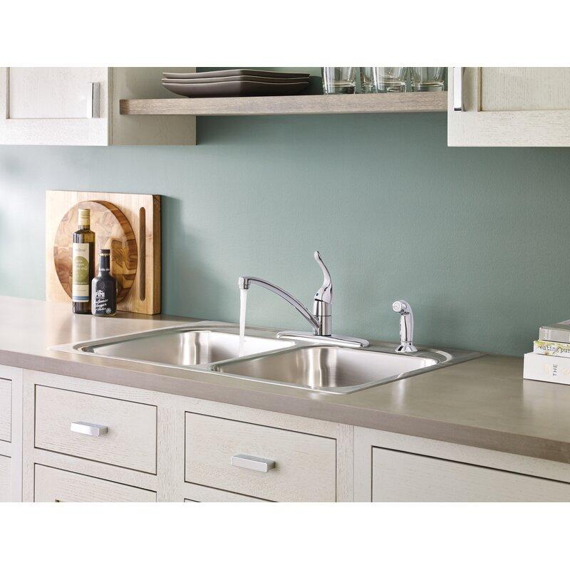7430w Bc Moen Chateau Single Handle Kitchen Faucet Reviews Wayfair