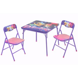 Character Kids 3-Piece Square Table and Chair Set by Idea Nuova