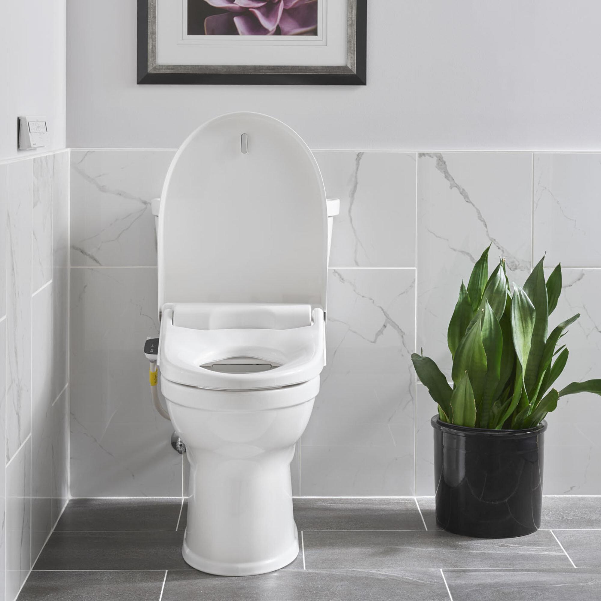 Superb Advanced Clean Spalet Elongated Toilet Seat Bidet Bralicious Painted Fabric Chair Ideas Braliciousco