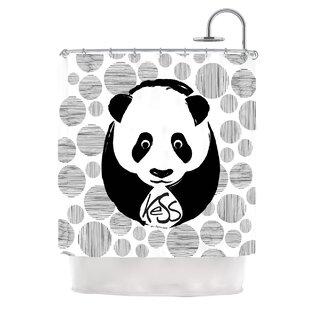 Panda Single Shower Curtain