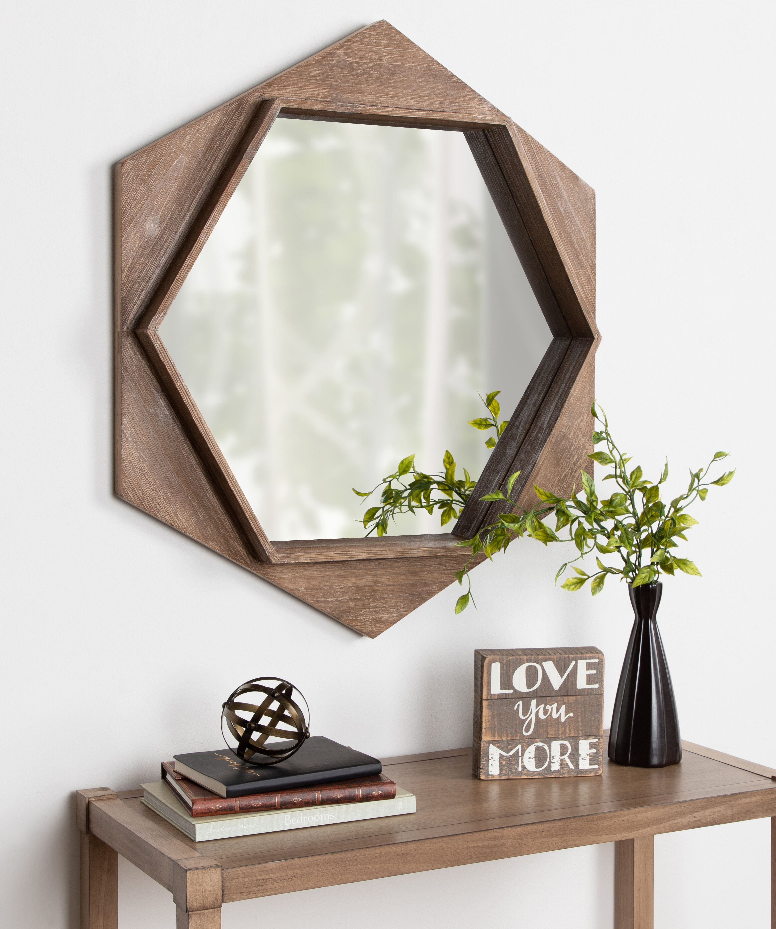 Millwood Pines Perry Beveled Distressed Wall Mirror Wayfair