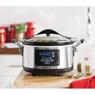 6-Qt. Stay or Go Set and Forget Programmable Slow Cooker
