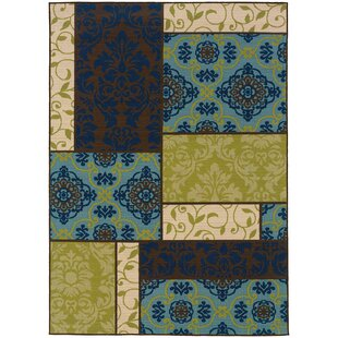 Boulware Green/Blue/Brown Indoor/Outdoor Area Rug By Red Barrel Studio