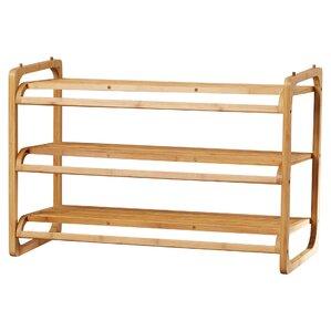 3 tier 12 pair stackable shoe rack