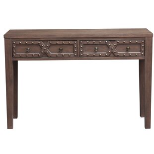 Charlton Home Starr Traditional Distressed 2 Doors Storage Console Table