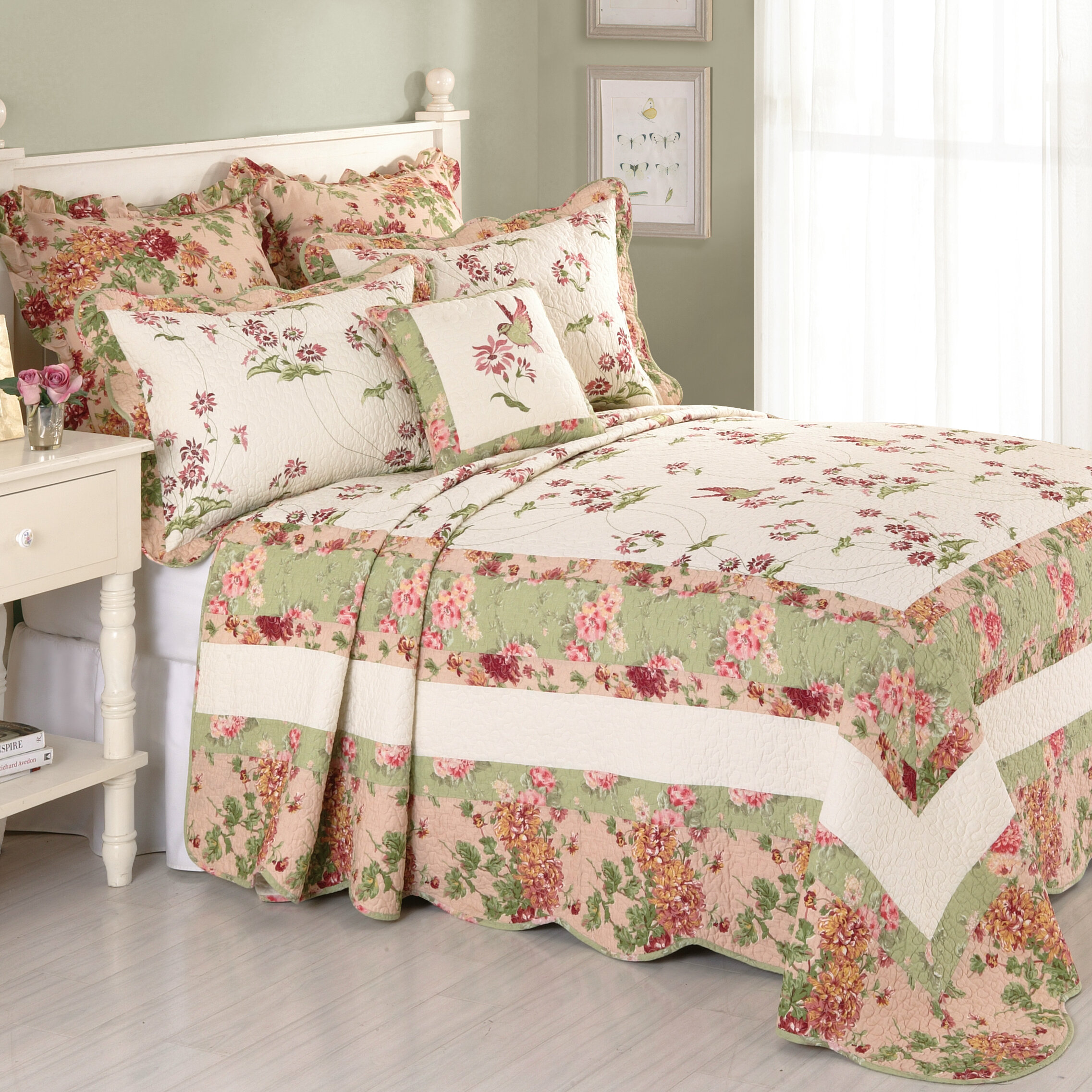 com coverlet ip essence set bedspread quilted cascade piece walmart quilt home