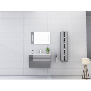 Comparison Kimbrough 32 Wall-Mounted Single Bathroom Vanity Set with Mirror ByOrren Ellis