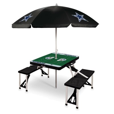 NFL 3 Piece Picnic Table With Sunbrella by ONIVA™ Read Reviews