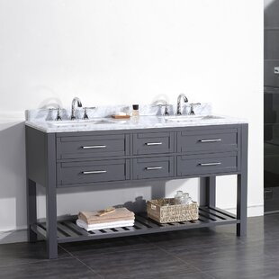 Compare & Buy Pasadenas 60 Double Carrera Top and Rectangular Basin Vanity Set By Ove Decors