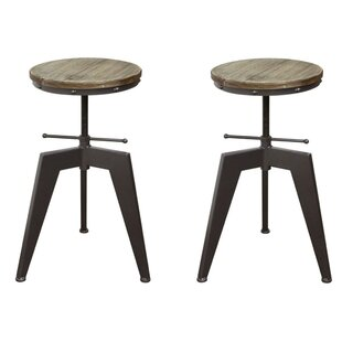 Shelby Adjustable Height Bar Stool (Set of 2) by 17 Stories