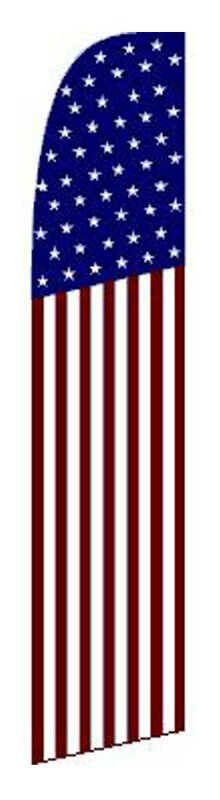 Neoplex American 50 Stars Polyester 138 X 30 In Feather Banner Wayfair