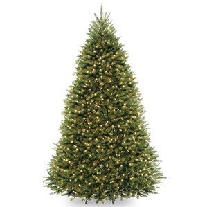 fir 9 hinged tree with 900 clear lights - Full Christmas Tree