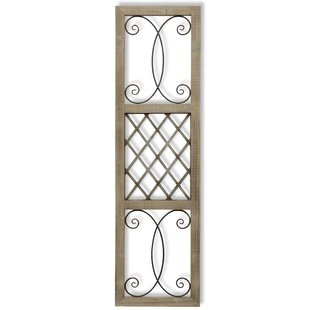 Traditional Rectangle Aspire Scroll Metal and Wood Wall D?cor by Fleur De Lis Living