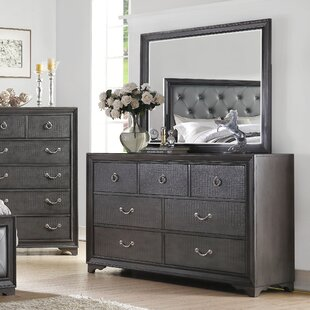 Florine Rectangular Dresser With Mirror