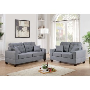 2 Piece Sofa And Loveseat Set In Grey by Latitude Run