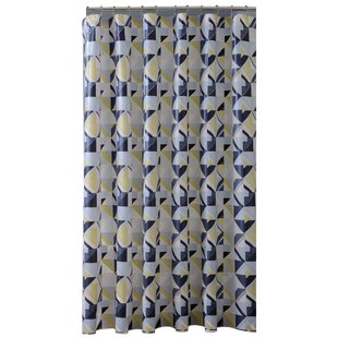 PEVA Geometric Design Single Shower Curtain