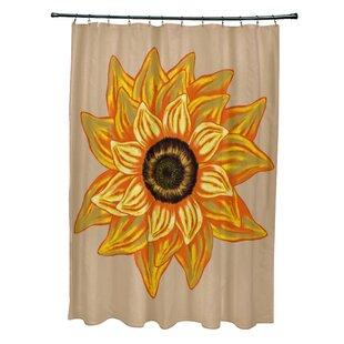 August Grove Essonne El Girasol Feliz Flower Print Shower Curtain