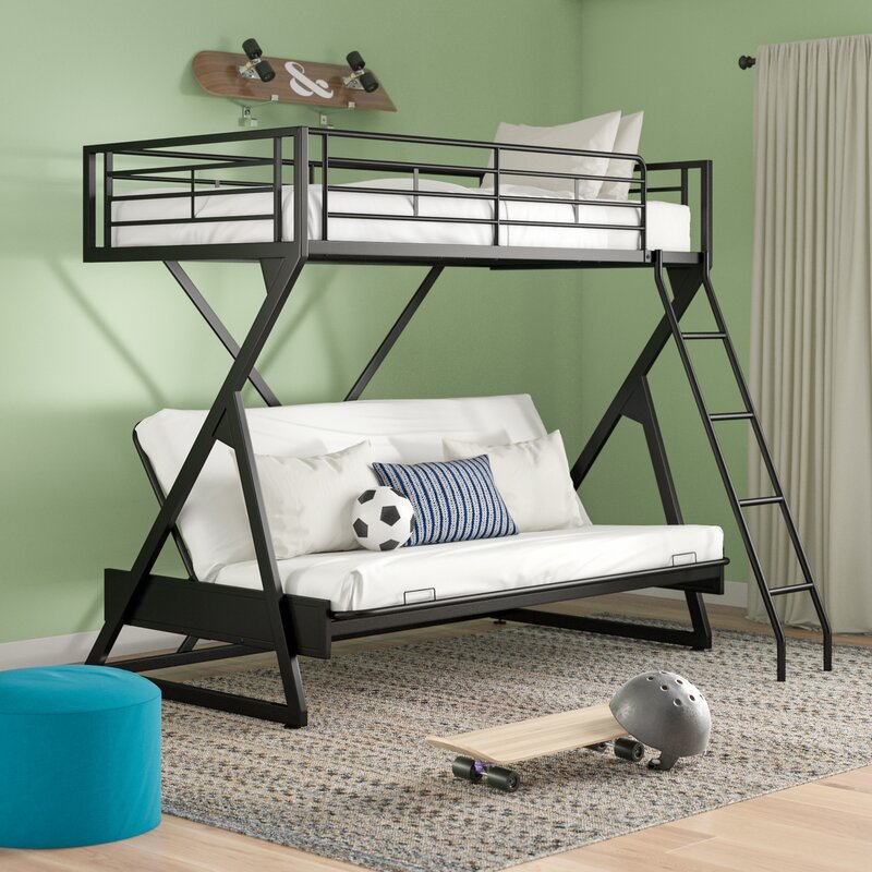 Zoomie Kids Petrey Twin Over Full Futon