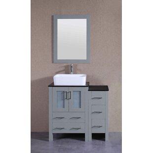 Adora 36 Single Bathroom Vanity Set with Mirror By Bosconi