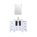 Volez 48 Single Bathroom Vanity Set with Mirror by Lexora