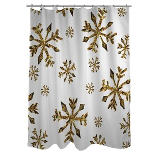 Snowflake Single Shower Curtain