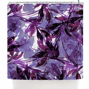 Ebi Emporium Floral Fiesta Plum Single Shower Curtain