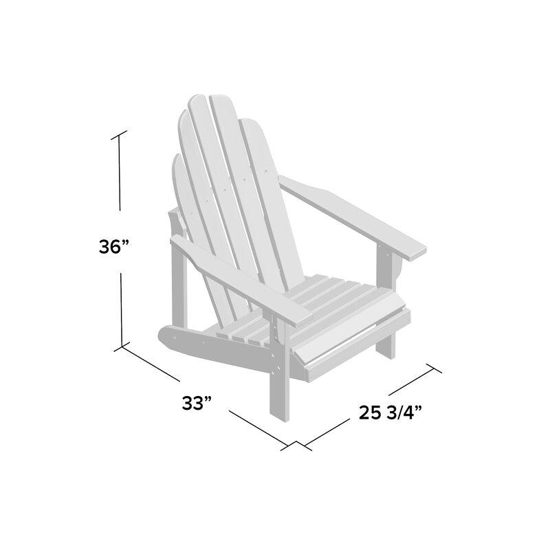 Diredra Solid Wood Adirondack Chair