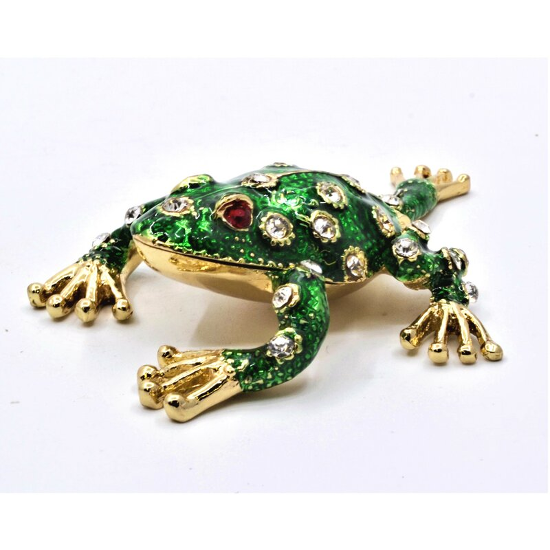 Bayou Breeze Jeweled Small Leaping Frog Decorative Box Wayfair