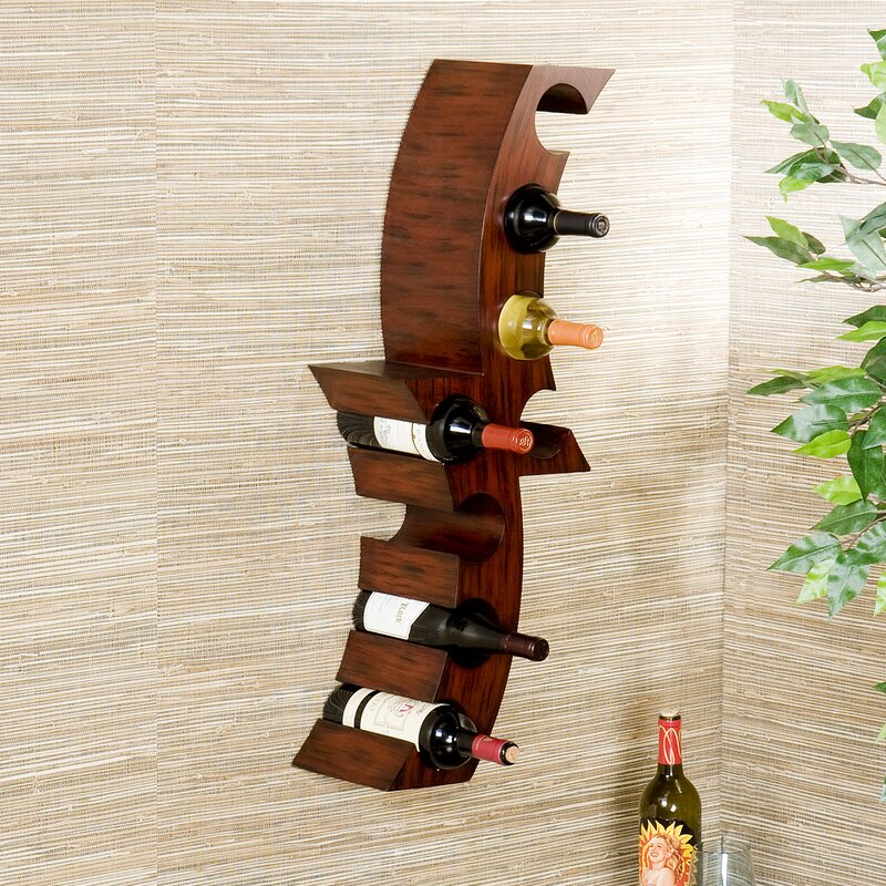 Home Etc 8 Bottle Wall Mounted Wine Rack Reviews Wayfaircouk