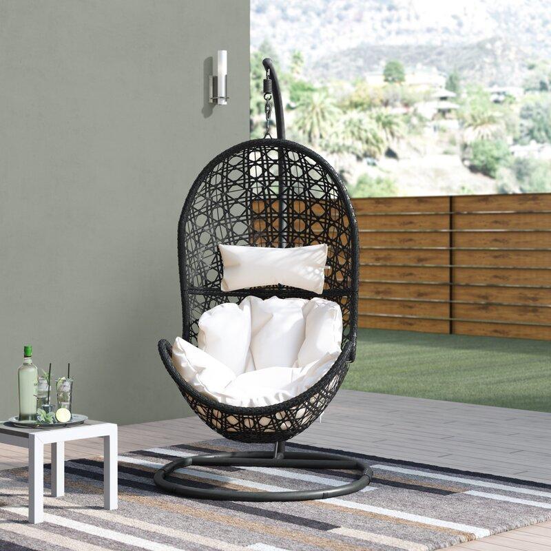 Brayden Studio® Abrams Hanging Egg Chair Hammock with ...