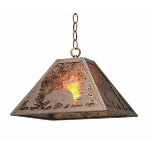 Bear Creek 1-Light Square/Rectangle Pendant by 2nd Ave Design