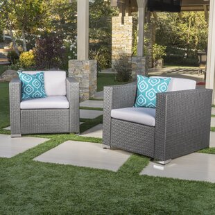 Greyleigh Tildenville Patio Chair with Cushion (Set of 2)