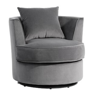 Amaryss Swivel Barrel Chair by Latitude Run