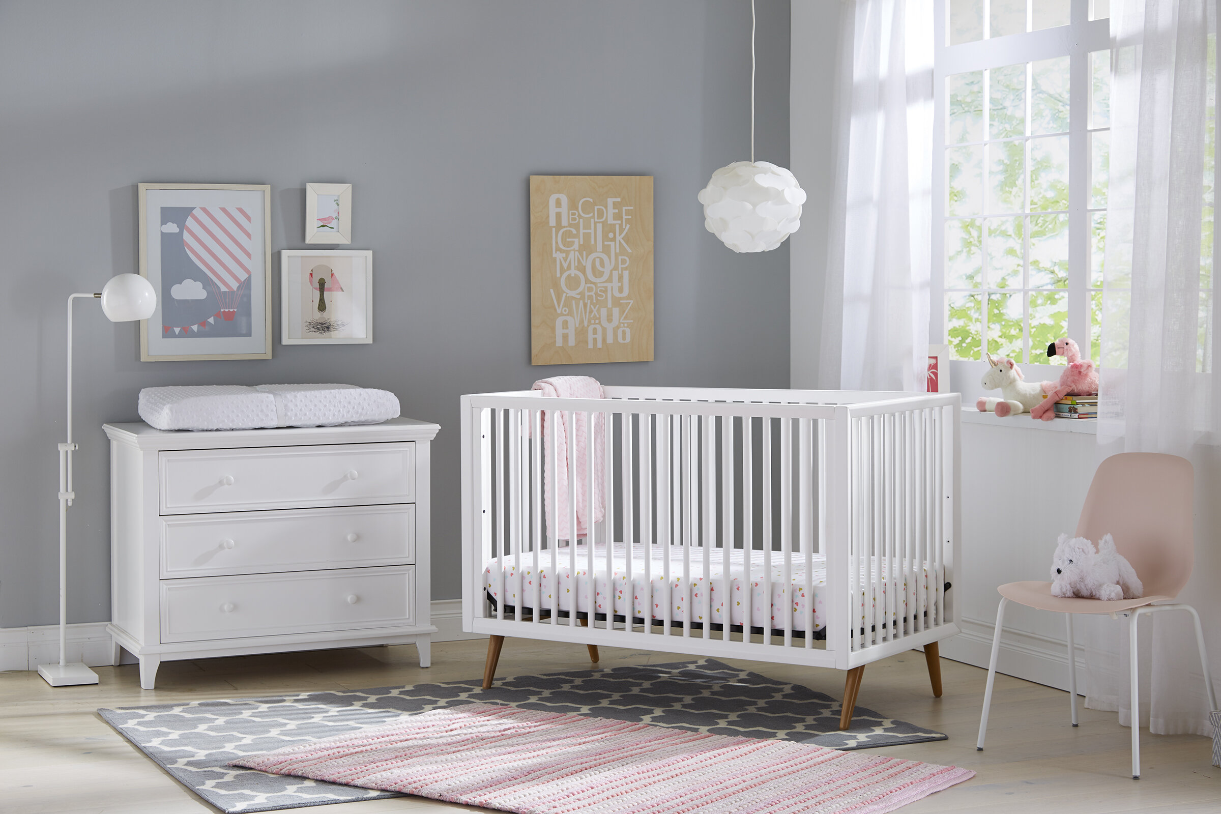 Roscoe 3 In 1 Convertible 2 Piece Crib Nursery Furniture Set