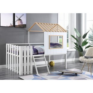 Lepanto Twin Low Loft Bed by Rosecliff Heights