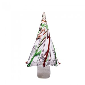 stripes glass tabletop tree - Glass Christmas Trees
