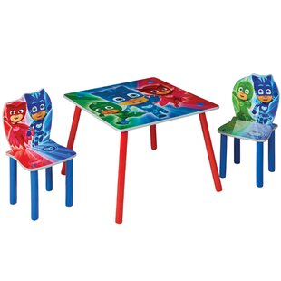 Gartman Children's 3 Piece Table And Chair Set By Zoomie Kids