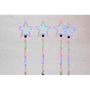 Set 4 Of Star Garden Stake Lights (Set Of 4) By The Seasonal Aisle