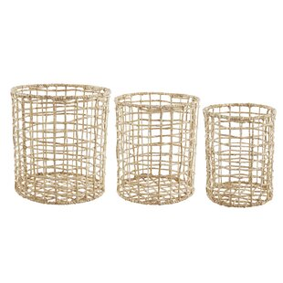 3 Piece Round Storage Basket ...