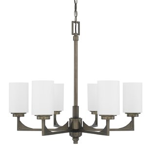Bowdoin 6-Light Shaded Chandelier by 17 Stories