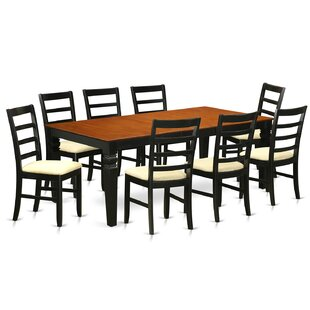 Logan 9 Piece Dining Set by Wooden Importers Best #1