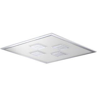 Watertile Ambient Rain Overhead Rain Rain Rain Shower Head with Temperature-based LED By Kohler