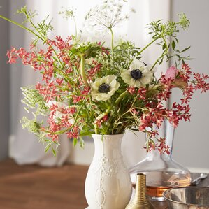 Stoneware Vases Youll Love Wayfair - Artist turns nyc trash cans into giant flower filled vases
