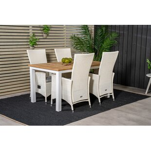 Navya 4 Seater Dining Set With Cushions Image