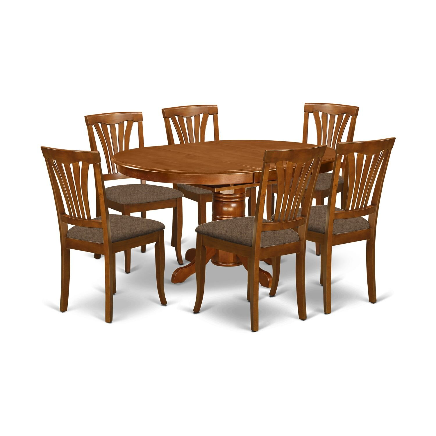 August Grove Spurling 7 Piece 36 Butterfly Leaf Solid Wood Dining Set Reviews Wayfair